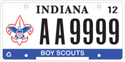 BSA Specialty License Plate - Indiana