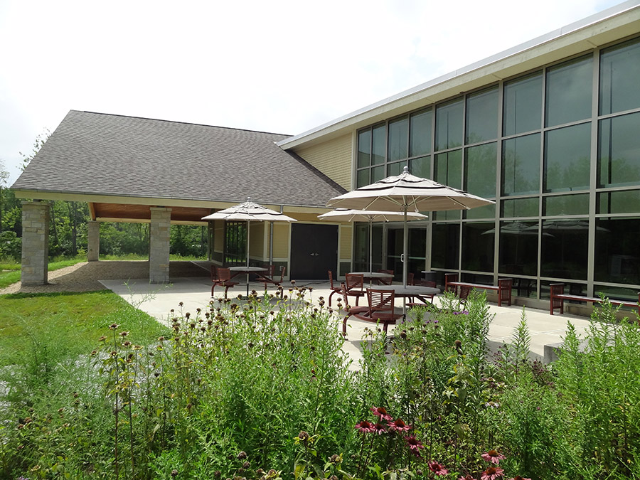 Golden-Burke Scout Center patio