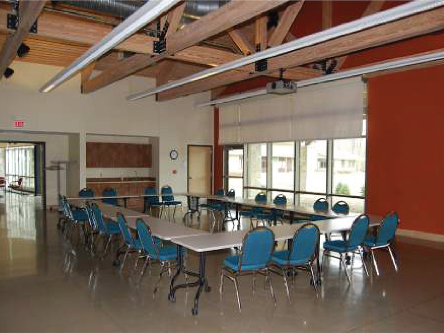 Golden-Burke Scout Center gathering room